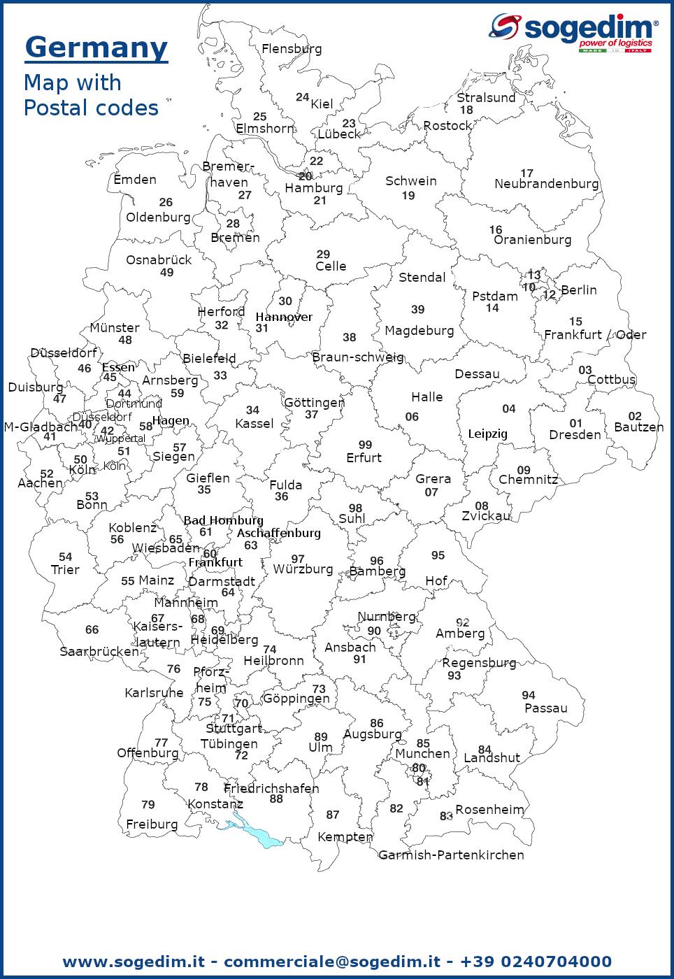 Cartina Cap Germania.Mappe Con I Cap In Italia E All Estero