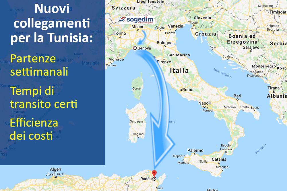 Nuovo collegamento per la Tunisia