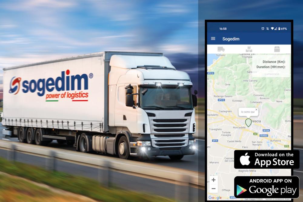 App dello spedizioniere Sogedim per il tracking disponibile per Apple e Android